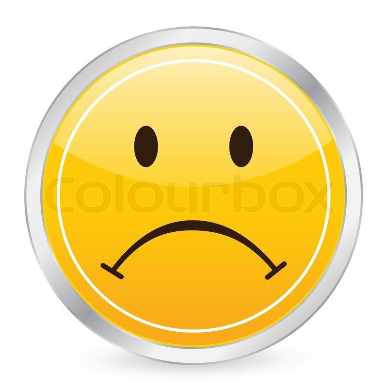 Trauriges Gesicht Gelb Kreissymbol Stock Vektor Colourbox