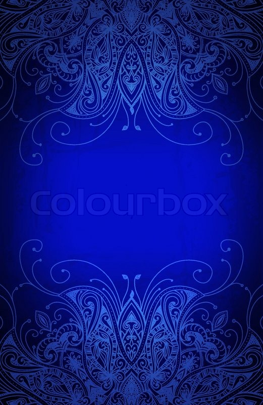 card blank royal blue and gold