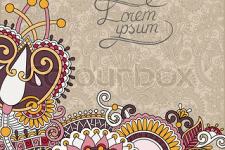 cover page design for school projects   Gotta yotti co paisley design on decorative floral background for invitation