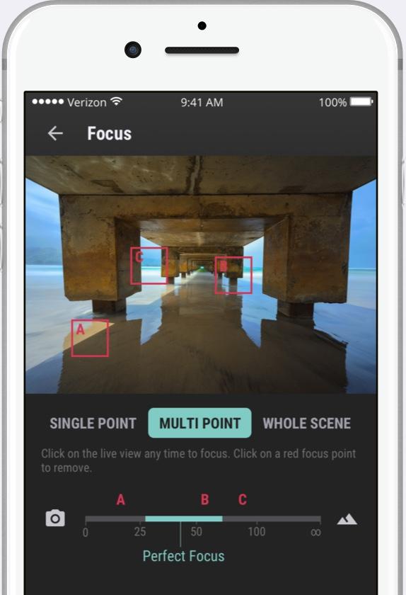 Multi-point focus mode