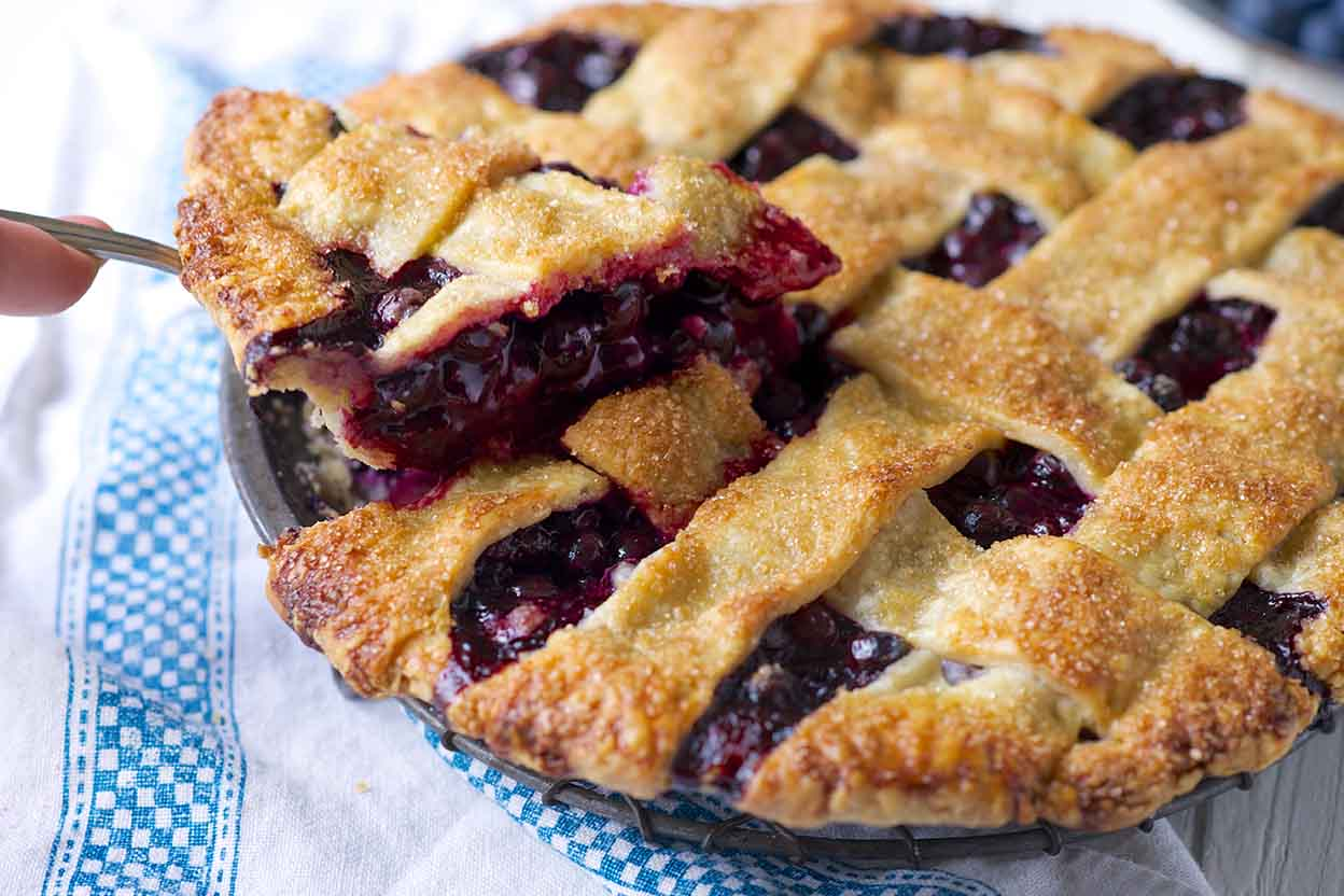 Blue Ribbon Blueberry Pie Recipe King Arthur Flour