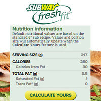 Subway Double Chicken Chopped Salad Calories