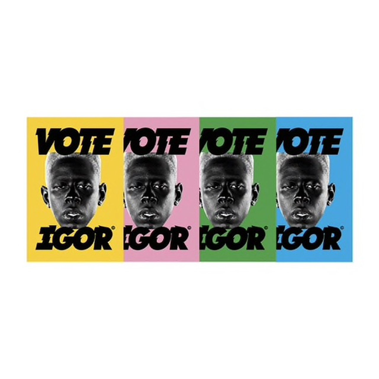 brand new blue vote igor poster from