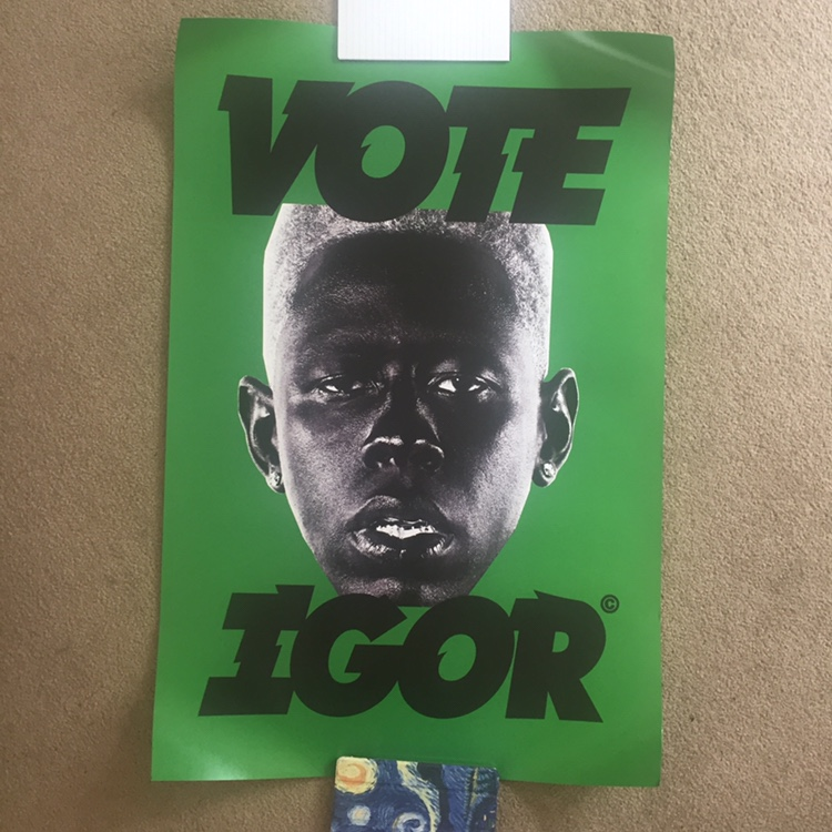 green vote igor poster by tyler the creator for