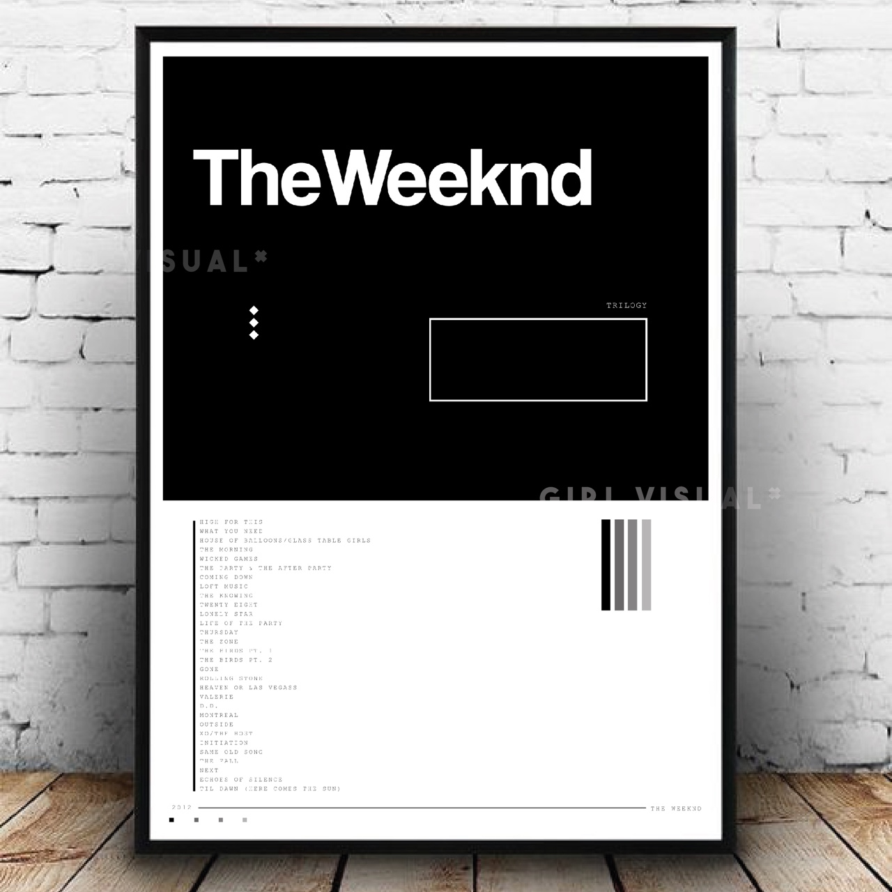 the weeknd trilogy album cover poster great minimal