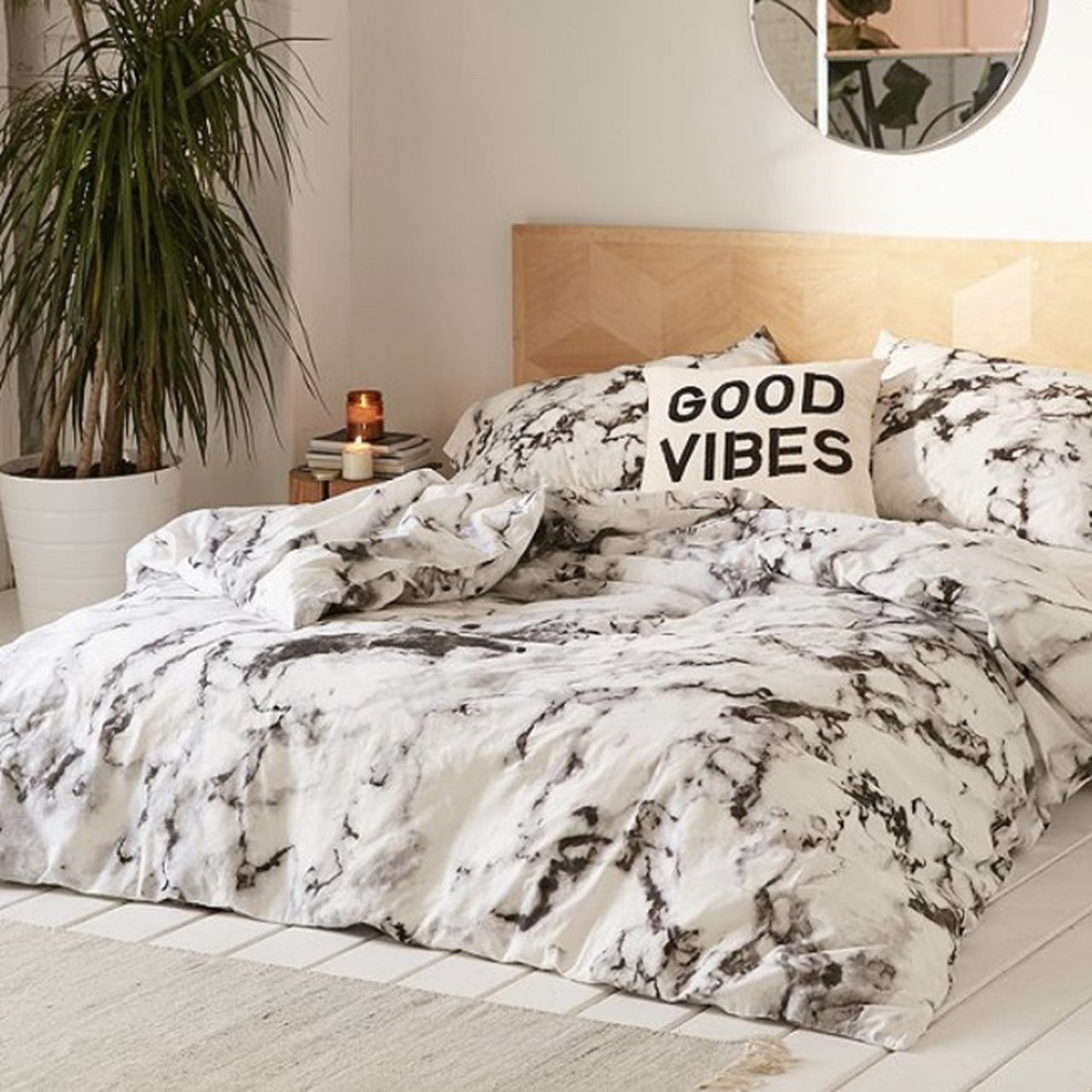 Urban Outfitters Marble Bedding Set For A Single Depop