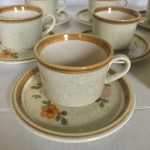 Vintage 70s 80s Mikasa Dishes 7 Cup And Saucer Depop