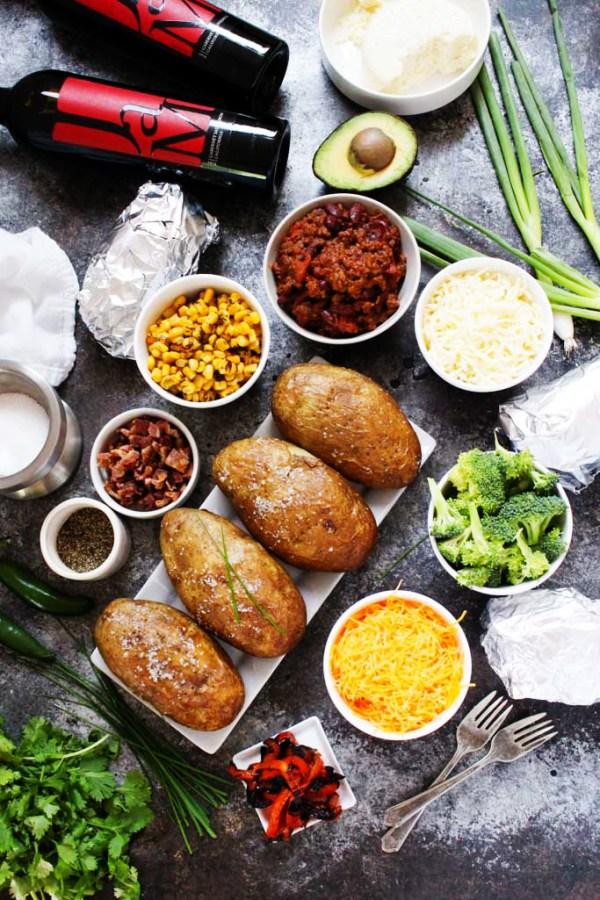"Grilled ""Baked"" Potato Bar | Platings & Pairings"