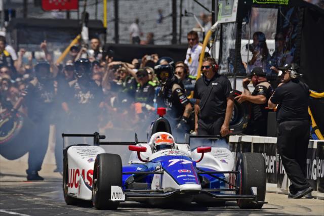 Aunque Schmidt Peterson Motorsports volverá a inscribir un tercer auto para Indianapolis, Patrick no está en la parte alta de su lista de candidatos (FOTO: Walter Kuhn/IMS Photo)