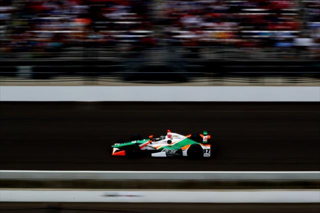 Saavedra fue parte del debut de Juncos Racing en Indianapolis y en IndyCar (FOTO: Bret Kelley/INDYCAR)