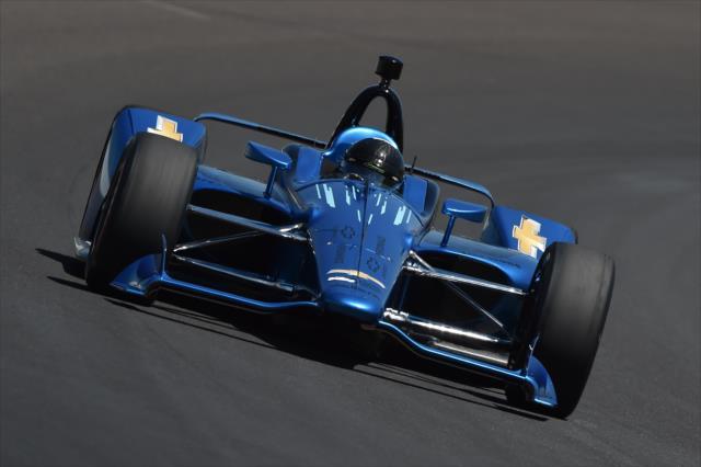 Montoya fue uno de los dos testers del renovado auto de la IndyCar (FOTO: Chris Owens/INDYCAR)