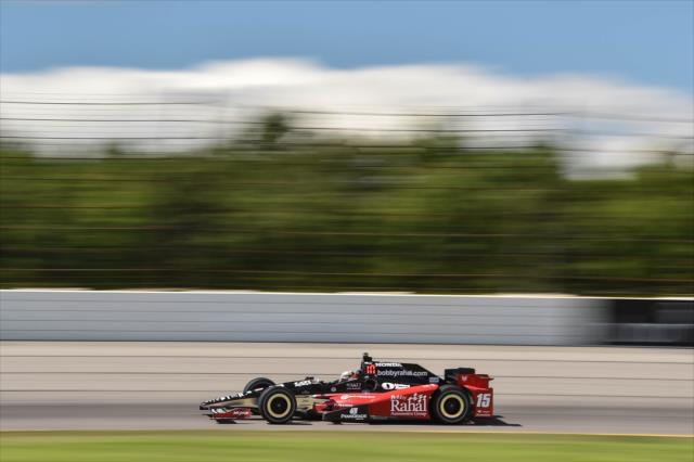 Así lució el auto de Rahal en la prueba del año pasado (FOTO: Chris Owens/INDYCAR)