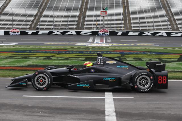 Su primera prueba de manejo con Harding Racing fue en Texas, en abril (FOTO: Chris Jones/INDYCAR)