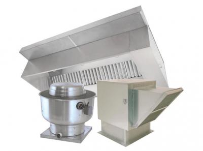 superior 08 etl restaurant box hood system w make up air exhaust fans curbs