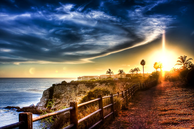 Image of an Amazing Sunset by the Sea