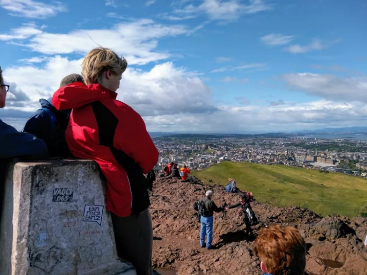 View of Edinburgh from the summit of Arthur's Seat