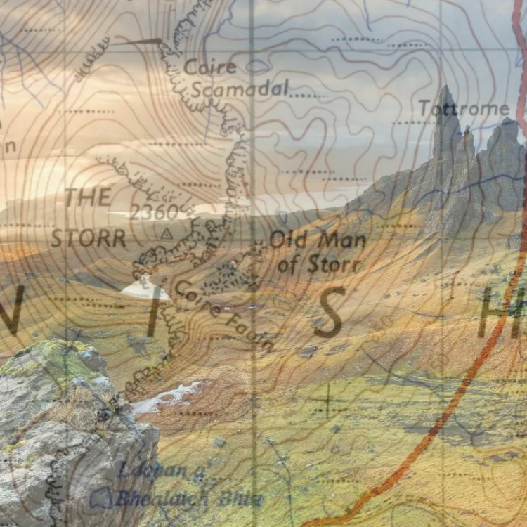 Map of The Old Man of Storr, Skye