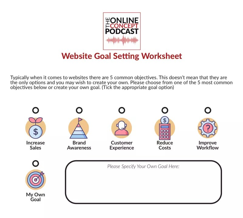 Free Website Goal Setting Worksheet
