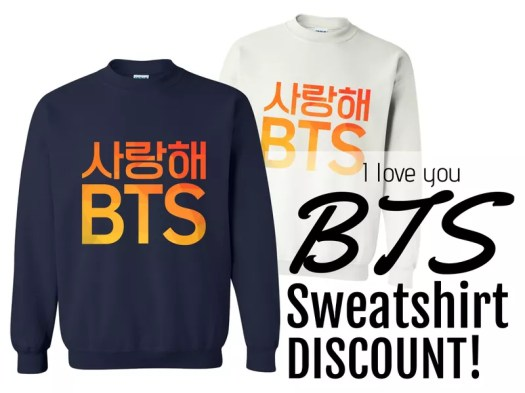 CHEAP KPOP MERCH BEST SITES BTS CLOTHING SWEATSHIRT