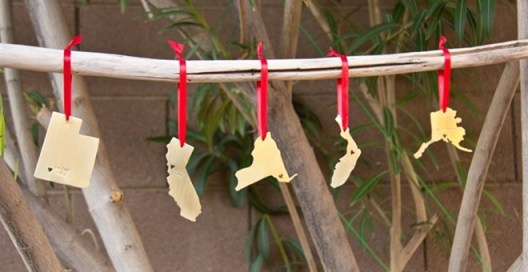 Personalized State Ornaments