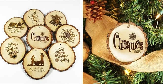 Tree Slice Christmas Ornaments- 8 styles to choose from!
