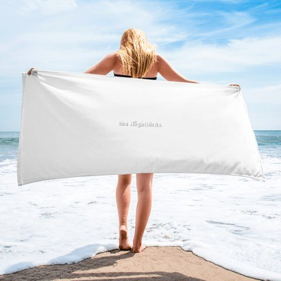 The Nightbirds Beach Towel with band logo