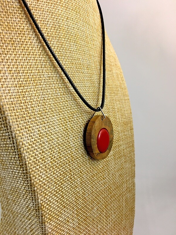Blessington Driftwood Dot Pendants - Red