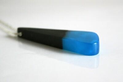Newbridge Bog Oak Collection: Medium Aqua Blue Pendant