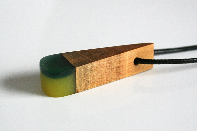 Dublin Bay Drift Wood Collection: Small Yellow Green Pendant