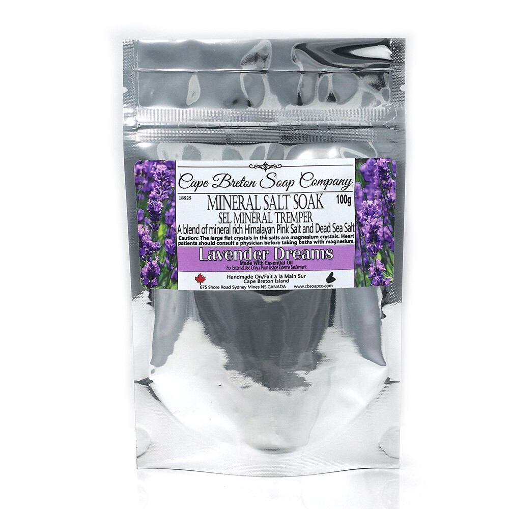 Mineral Salt Soak - Lavender Dreams