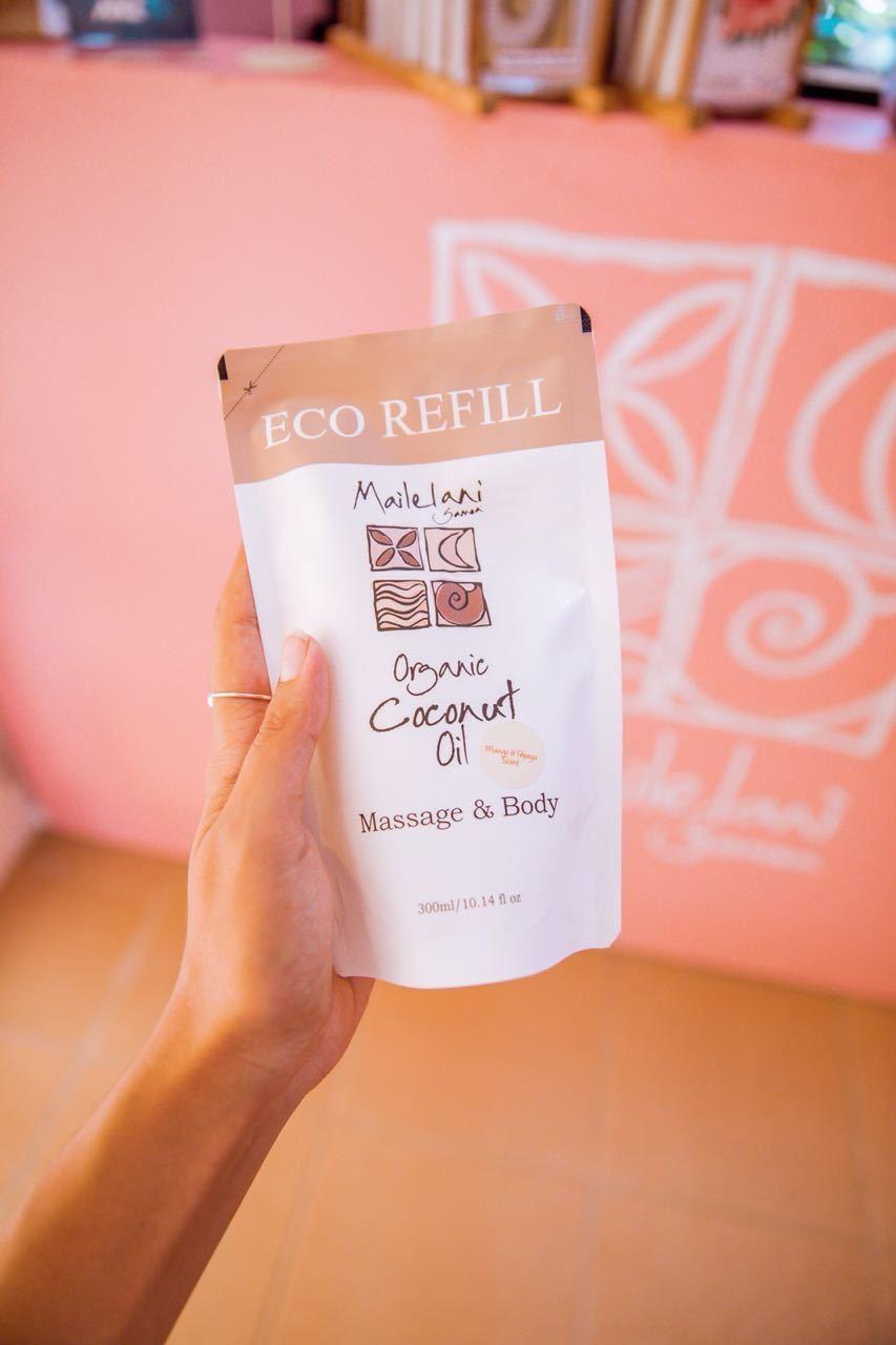 For Men (Polynesian Scent) - Eco Refill Pouch 300ml Organic Coconut Oil
