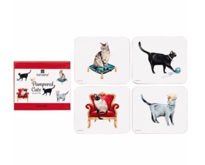 Pampered Cats Coasters by Ashdene