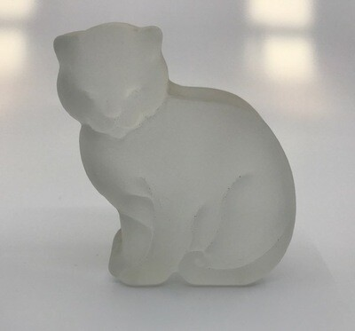 Vintage Frosted Crystal Cat
