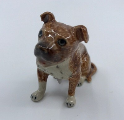Staffordshire Bull Terrier Miniature Porcelain Dog