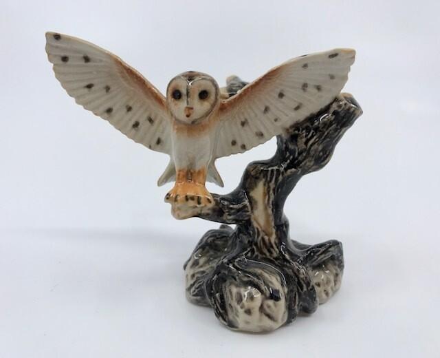 Barn Owl Miniature Porcelain