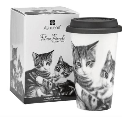 Cuddling Kittens Travel Mug by ASdene