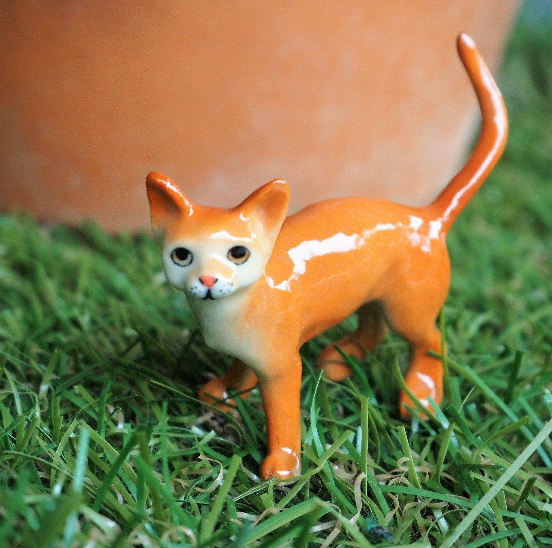 Miniature Abyssinian  Cat Figure