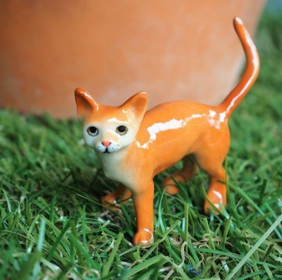 Miniature Abyssinian  Cat Figure
