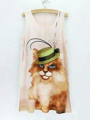 Dandy Cat Dress