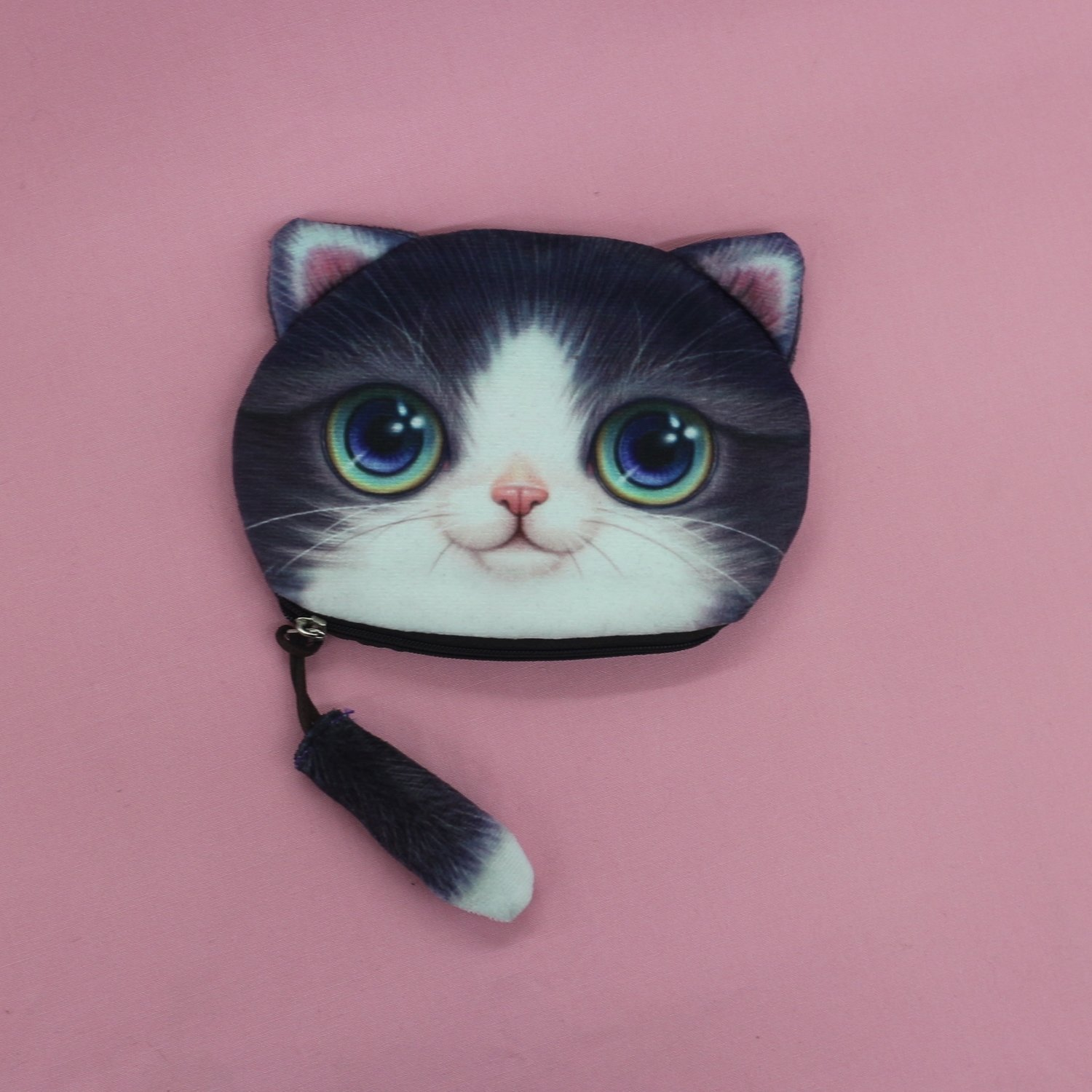 Tuxedo Cat Coin Purse with Tail