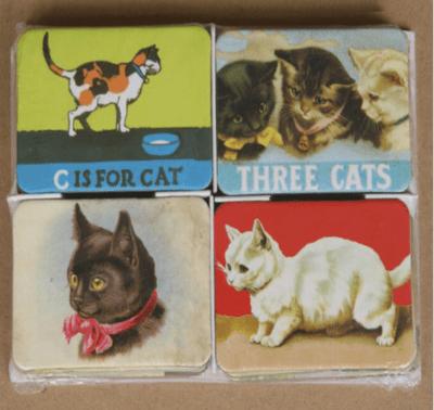 Vintage Style Cat Magnets Set of 24