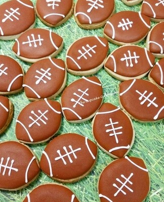 Mini Football  Sugar Cookies