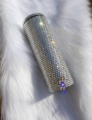 Ice Queen Full Bling  20oz Tumbler with straw Rhinestone Tumbler Bling Cup