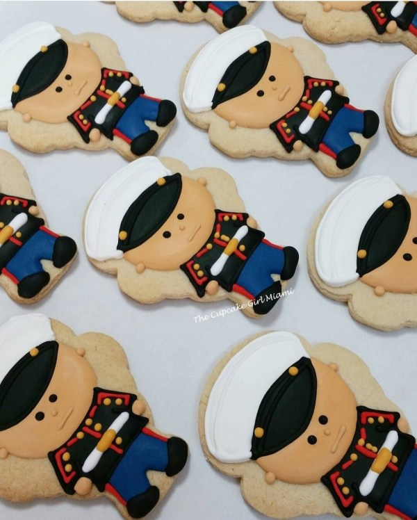 USMC US Marines Decorated Sugar Cookie 1 Dozen
