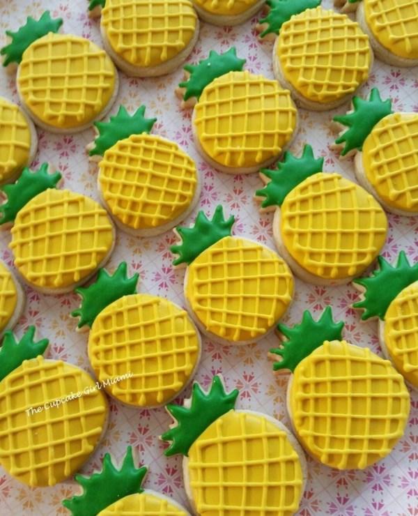 Mini Pineapple Decorated Sugar Cookie 2 Dozen