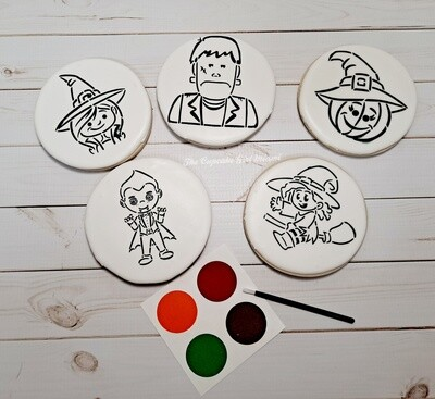 Halloween DIY Cookies Paint Your Own Cookies PYO COOKIES