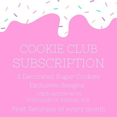 Sugar Cookie Subscription - Monthly