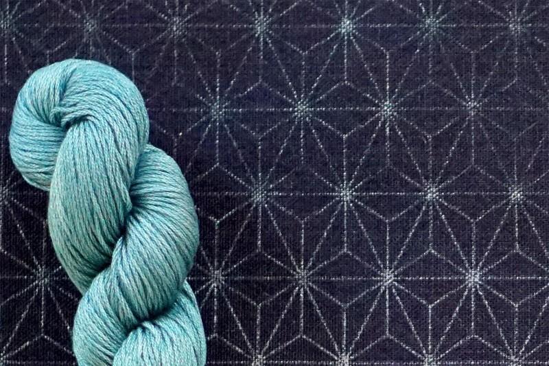 Fabric for Sashiko practice - Small Asanoha Pattern