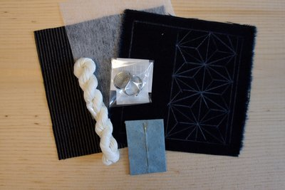 Sashiko Coaster DIY Kit   Everything you need in a minimal package