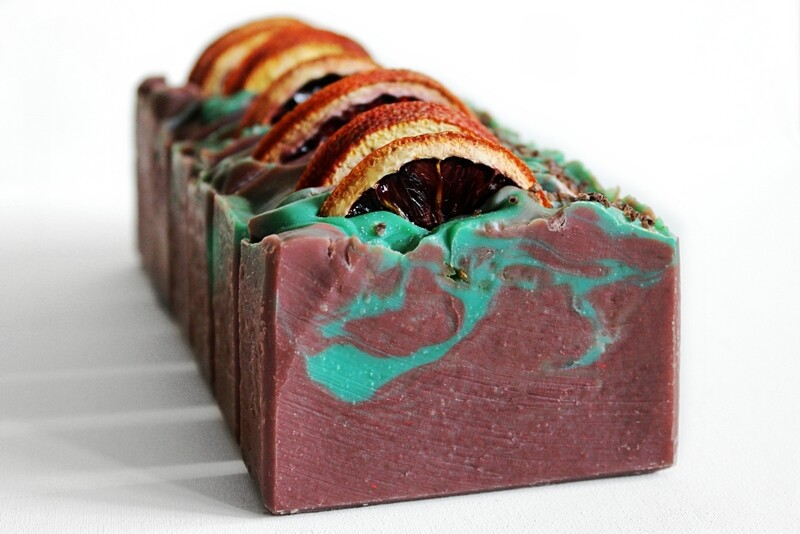 BLOOD ORANGE, ROSEMARY, AND THYME essential oil soap